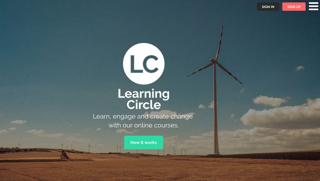 Learning Circle homepage