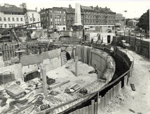Haymarket under construction