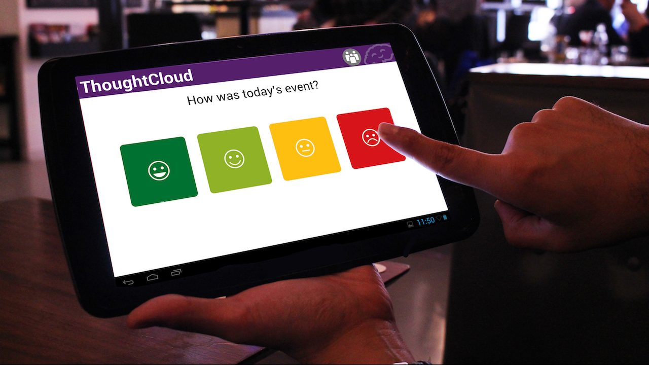 Thoughtcloud on a tablet
