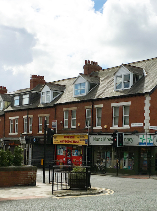 Street with shops in Wingrove